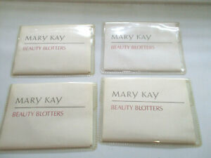 LOT OF 4 packs of 75 MARY KAY BEAUTY BLOTTER OIL ABSORBING TISSUES = 300 tissues
