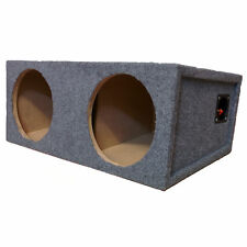 "BMW 3 Series E46 Custom Fit Double 10""Subwoofer Sub Box Enclouser For Car Audio"