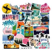 50Pcs Cool Hawaii Stickers Pack Vinyl Waterproof Laptop Luggage Surfboard Decals