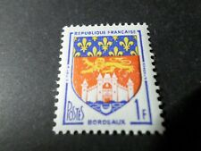 FRANCE 1958, timbre 1183, ARMOIRIES BORDEAUX, neuf**, VF MNH STAMP