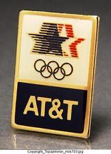 OLYMPIC PINS 1984 LOS ANGELES AT&T SPONSOR LOGO DESIGN