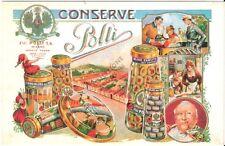 Cartolina postale pubblicitaria nuova CONSERVE POLLI - Milano
