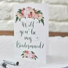 WILL YOU BE MY BRIDESMAID Invite Cards (Single or 5pk) Invitations Boho Rustic