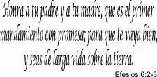 Efesios 6:2-3, Bible verse wall decals, scripture, Vinyl Art, stickers, spanish