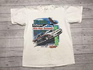 Vintage Nascar Racing T Shirt Mens Medium 1993 Mile High Nationals Mopar Denver