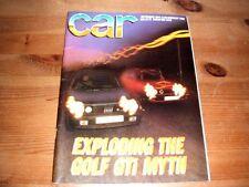 CAR MAGAZINE SEP-1984 - Fiat Strada Abarth, Ford Orion, Maserati Biturbo S, MR2