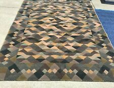 """Vintage MISSONI AREA RUG LUXOR 100% WOOL 6 X 8"""" Pre-Owned - Great Condition"""