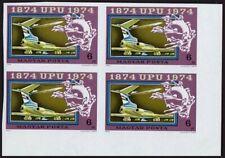 Hungary 2282-2287,C349 imperf blocks/4,MNH.Michel 2945B-2951B. UPU-100,1974.