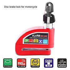 Red Motorcycle Bike Scooter Anti-theft Wheel Disc Brake Alarm Lock Security Kit
