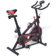 vidaXL Cyclette Sportiva da Spinning Ellittica con Sensori a Impulso Nera Rossa
