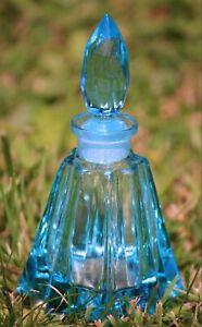 Ideal CHRISTMAS gift, blue glass perfume bottle DESNA