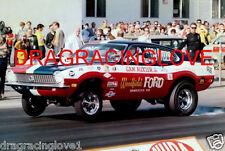"Sam Auxier Jr. 1970 Ford Maverick Pro Stocker ""Wheels UP"" PHOTO!"