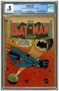 Batman 59 CGC .5 1st Appearance Deadshot (Floyd Lawton) Joker app. Golden Age