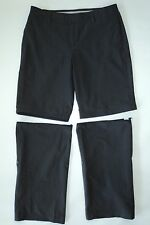 Danskin Now Womens M 8 10 Gray Zip Off Yoga Dance Hiking Workout Walking Pants