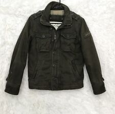 Boys Abercrombie & Fitch Elk Lake Jacket sz Small Military Green