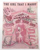 1946 The Girl That I Marry Rodgers & Hammerstein Annie Get Your Gun Sheet Music