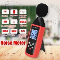 LCD Digital Sound Level Meter Noise Decibel Tester 30-130dB Monitor Measurement