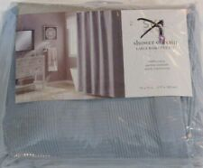 Saturday Knight Ltd Large Basketweave Shower Curtain 70x72 Blue new #57590