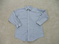 Brooks Brothers Button Up Shirt Adult Extra Large Blue Green Striped 16 2/3 Mens