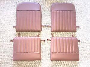 Aeronca 7 Series, Brown Leather 4 Cushioned Set, Retro, Ribbed, Original Fit