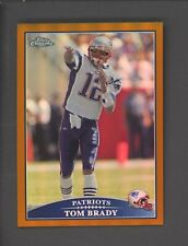 2009 Topps Chrome Copper Refractor Tom Brady New England Patriots 129/649