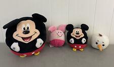 New listing Lot of 4 Ty & Hallmark Beanie Ballz Mickey Mouse Disney Plush Stuffed Toy Round