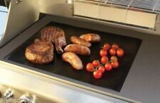 2x BBQ COOKING SHEET NONSTICK TEFLON 50x40cm ALL PURPOSE HOTPLATE LINER