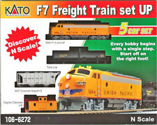 Kato N 4 Car Freight Train Set with UP F7A Locomotive DC DCC Ready 1066272