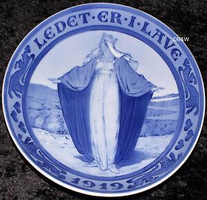1919 ROYAL COPENHAGEN GEDENKTELLER / COMMEMORATIVE PLATE #185