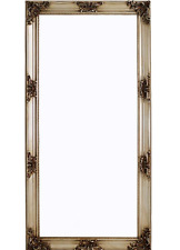 French Style Champagne Antique Traditional Glass Wall Mirror 180x90x8cm Home