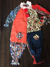 IT Clown Costume Vintage Handmade Creeper Bozo Fabric Adult M Dress Up Party