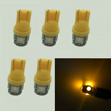 5X Yellow T10 W5W Interior 5SMD LED Car Auto Light bulbs 2825 158 192 168 194