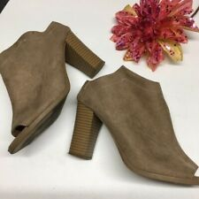 603f29c419ab Report Women s Taupe Peep Toe Goofy Booties Size 8