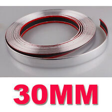 30 mm (3 Cm) X 15 M Tira Estilo de moldeo Cromo Embellecedor Coche Adhesivo Decoración Nuevo