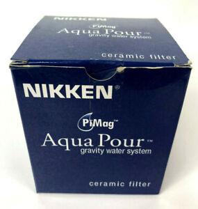 Nikken PiMag Aqua Pour Gravity Water System Ceramic Dome Filter 1364 AquaPour