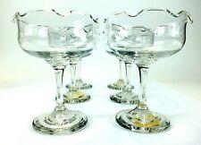 Clear Glass WAVY RIM MARGARITA Drinkware Glassware MEXICO Lot of 6