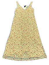 Ladies Size M Butter Yellow SPORTSGIRL Red Roses Maxi dress *NEW* RRP $79.95