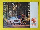 MG 1300 1.3 car brochure sales catalogue September 1967 MINT BMC P