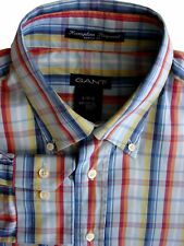 Gant Camisa Mens 16.5 L multicolores comprobar Hampton indicar Dress Fit
