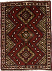 Tribal Design Handmade Orange-red 5X6 Farmhouse Area Rug Oriental Decor Carpet