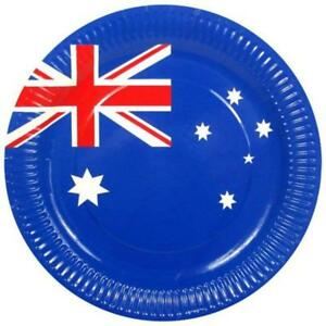 Australia Day Party Pack Plates Cups Table Cover Banners Glow Stick & Roo Tape