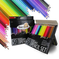 Thornton's Art Supply Premium 50 Piece Colored Pencil Artist Drawing Set