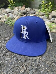 1990's NEW ERA WILMINGTON BLUE ROCKS Snapback Hat Made In USA Royals