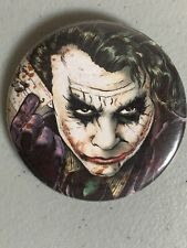 "Button 2.25"" Dark Knight Joker Batman Nolan Heath Ledger - Great Gift 🎁"
