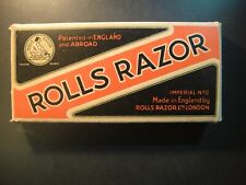 Vintage ROLLS Razor. Imperial No. 2. London, England. Nickel Plated. Unused.