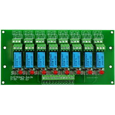 8 DPDT Signal Relay Module Board, DC5V Version, for PIC Arduino 8051 AVR MCU.