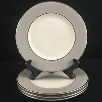Set of 4 VTG Bread Plates by Syracuse China Debutante Gray Platinum USA
