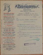 LETTERA DITTA A. BERTOLOTTO SAVONA ARTICOLI DISEGNO CANCELLERIA 1925 DRAWING