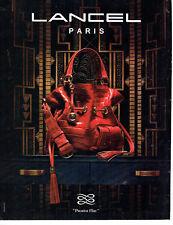 Publicité Advertising 108  2009   Lancel  collection sac  premier flirt