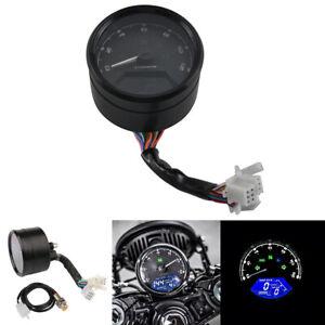 12000RPM Motorcycle LCD Speedometer Digital Gauge Odometer ABS Waterproof 18V